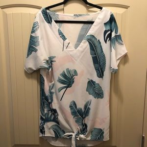Palm Tree swimsuit coverup